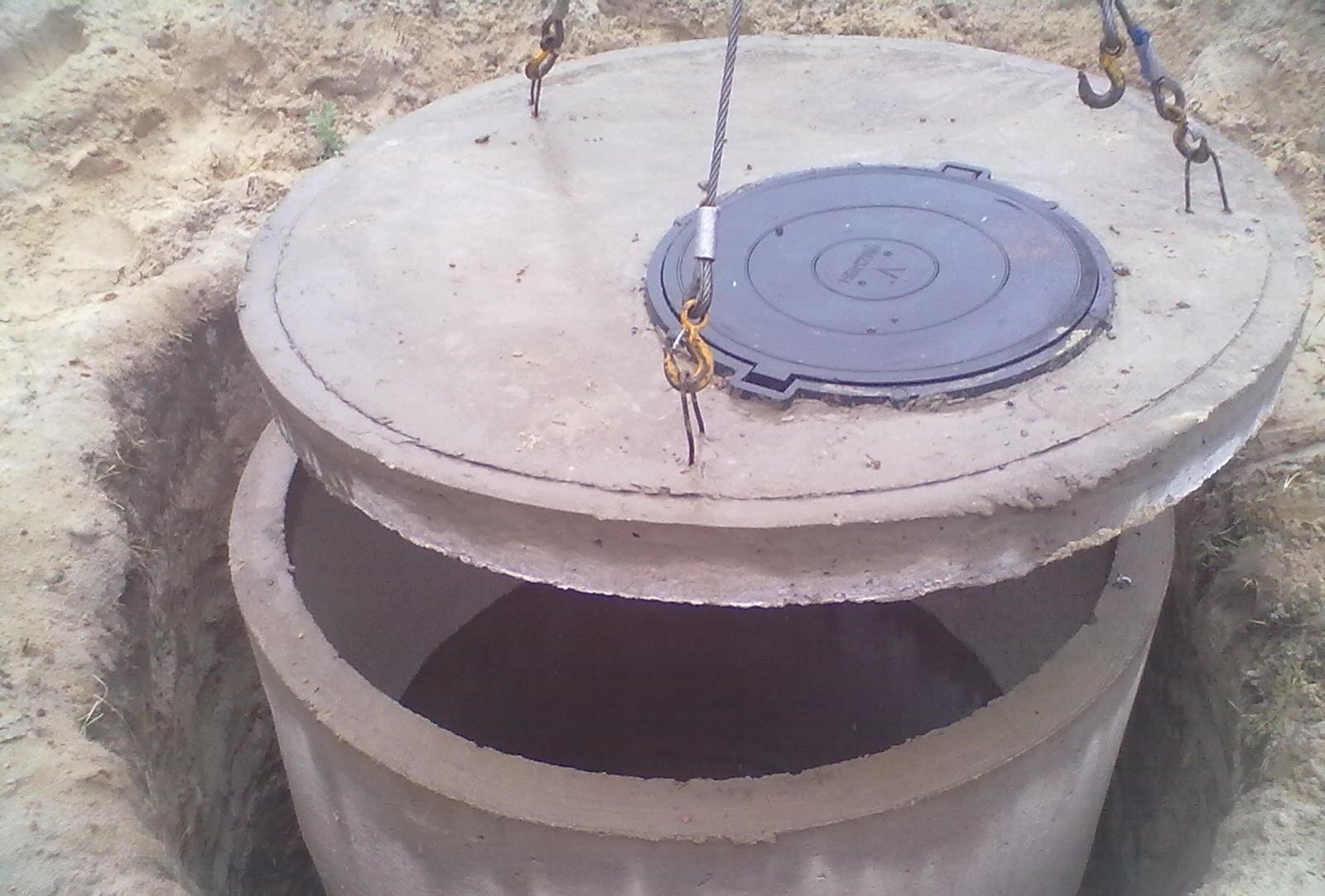 Установка колодцев канализации