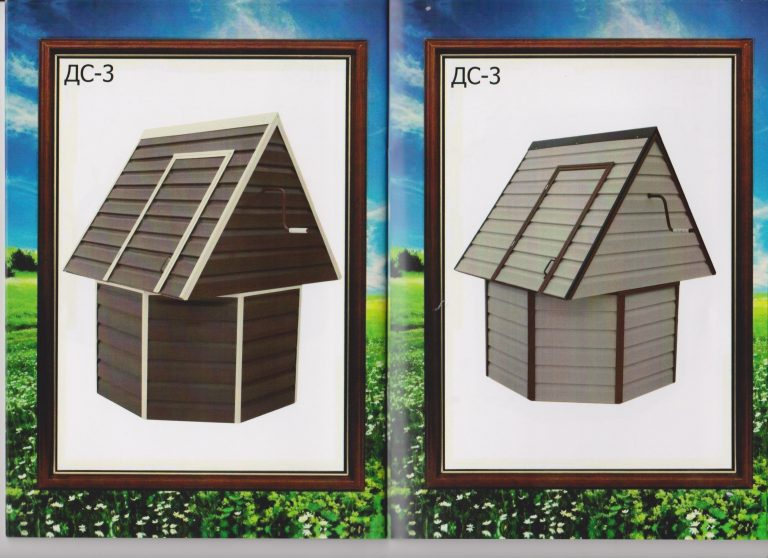 колодезный домик с установкой 14