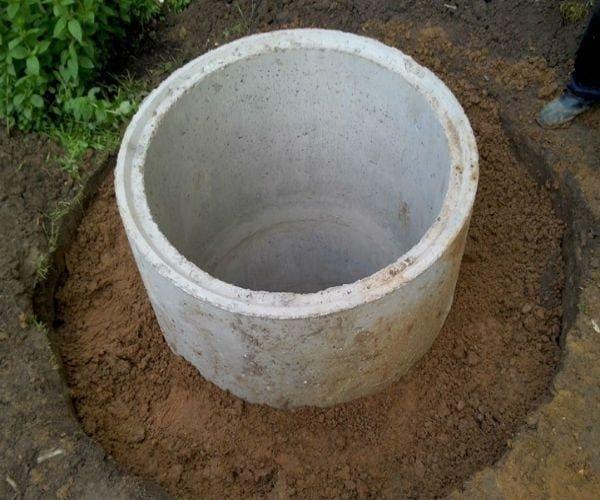 Глиняный замок для колодца из бетонных колец
